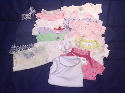 BULK (16 Items) BABY GIRL SUMMER CLOTHES SZ 0000