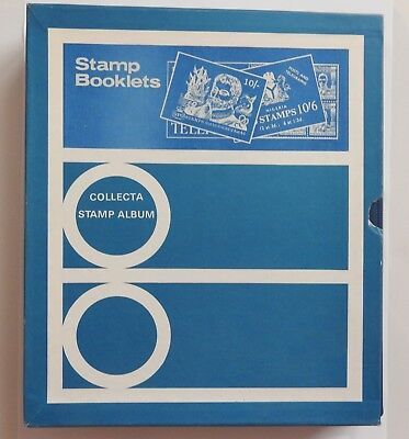 Collecta Great Britain 22 Ring Stamp Booklets Album In Slipcase