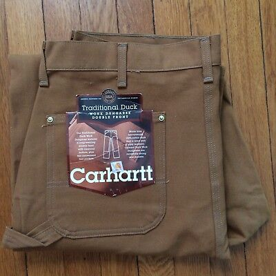 NEW Vintage Deadstock CARHARTT Men's TRADITIONAL DUCK Double Front Pants 40x34