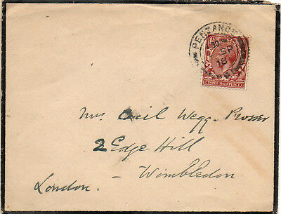 Penzance Mourning Cover posted 1934