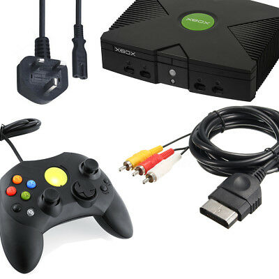 Microsoft Classic Xbox Accessory Bundle, Power Cable / Game Controller & AV Lead