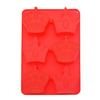 6-Imperial Crown Sugar Cake Mold Silicone Mold Chocolate Mold Soap Candle Tools