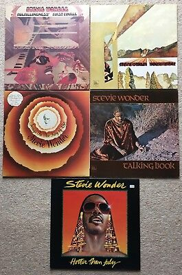 STEVIE WONDER RECORD COLLECTION - 5 x LP's - INNERVISIONS, SONGS IN THE KEY etc