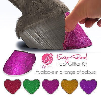 Equifashion Horse & Pony Hoof Glitter Show Kit Easy Removal non varnish oil balm