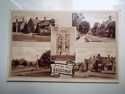 Post card BROADWAY Gloucestershire 1958