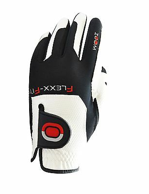 ZOOM Kinder Golfhandschuh WEATHER JUNIOR Farbe: white-black-red Rechtshänder