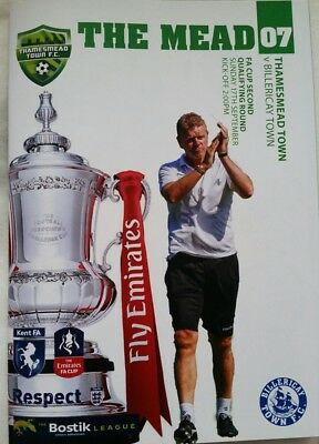 2017/18 Thamesmead Town v Billericay Town F.A.Cup