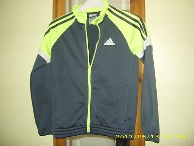 ** Adidas ** Boys Grey   Zip Up Sport Tracksuit Top Jacket    Age  9 - 10 Years