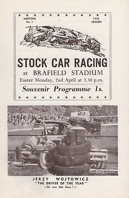 Stock Car Racing  Brafield Stadium 1956