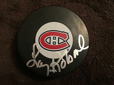 Larry Robinson Signed Canadiens Hockey Puck (Frozen Pond Hologram)