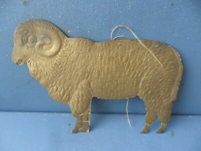 ANTIQUE DRESDEN PAPER SHEEP FOR TREE OLD CHRISTMAS DECORATION ca: 1880
