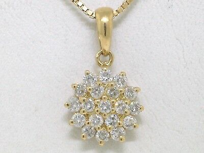 Diamant Brillant Anhänger 750 Gelbgold 18Kt Gold 0,60ct Top Crystal
