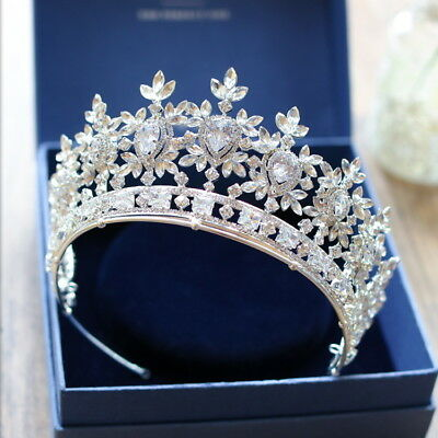 AAAAA Cubic Zirconia Crystal Adult Wedding Bridal Party Pageant Prom Tiara Crown
