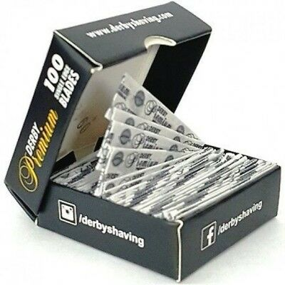 100 Derby Professional Premium Single Edge Razor Blades for Straight Razors