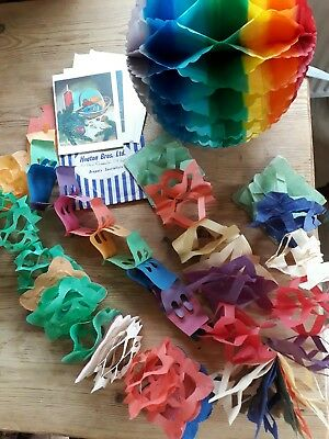 vintage fifties paper christmas decorations and sixties christmas cards