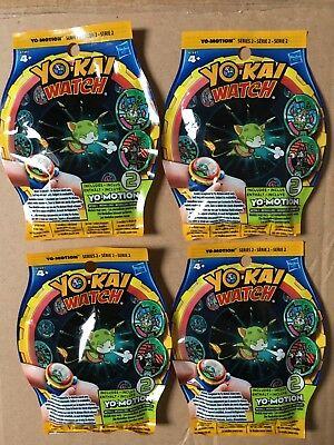 Lot De 4 Sachets Médaillons YOKAI WATCH