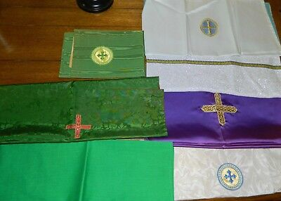 Lot of 7 Chalice Veils Assorted Colors - Chalice Veils - Used