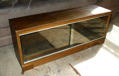 Minty Oak Bookcase Stacking Sectional Art Deco Mid Century glazed cabinet Label