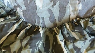 New twin size army camouflage fitted sheet boys bedrooms!