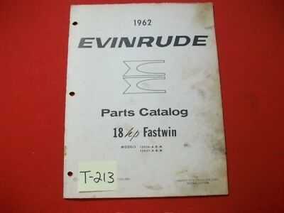 Original Factory 1962 Evinrude Outboard Parts Catalog 18 Hp Fastwin