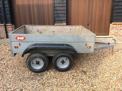Caddy 640T twin axle galvanised trailer