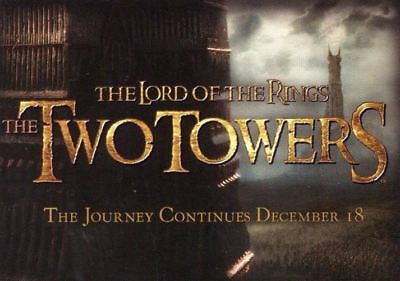 Lord of the Rings Two Towers Cadbury Promo Card Set 20 Cards