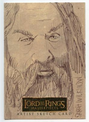 Lord of the Rings Masterpieces Sketch Card by Sarah Wilkinson Gilmi