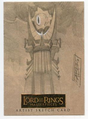 Lord of the Rings Masterpieces Sketch Card by Davide Fabbri Eye of Sauron
