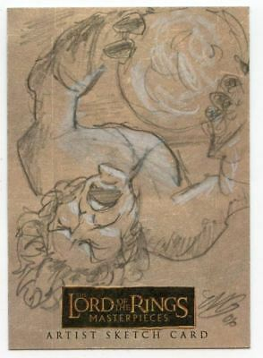Lord of the Rings Masterpieces Sketch Card by Matthew Goodmanson Pippen