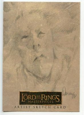 Lord of Rings Masterpieces Sketch Card by Collen Doran The Witch King