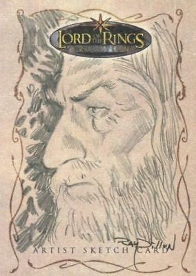 Lord of Rings Evolution Sketch Card by Ray Dillon Gandolph