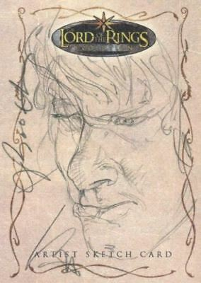Lord of Rings Evolution Sketch Card by Joseph Booth Merry