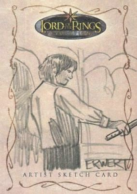 Lord of Rings Evolution Sketch Card by Scott Erwert Frodo