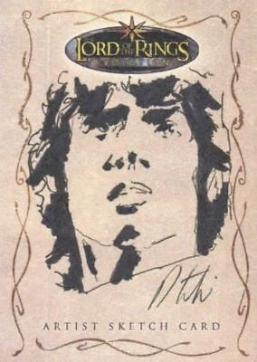 Lord of the Rings Evolution Sketch Card by Robert Teranishi Frodo