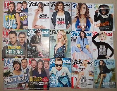 Job Lot Fabulous TV Magazines 2013-2017 x 45 all in new condition Celebs Models
