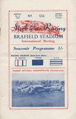 Stock Car Racing Brafield 1958 Season