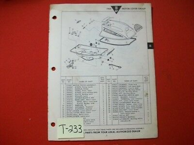 Original Factory 1964 Evinrude Outboard Parts Catalog 18 Hp Fastwin