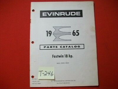 Original Factory 1965 Evinrude Outboard Parts Catalog 18 Hp Fastwin