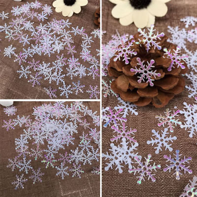 100 200 300 Christmas White Snowflakes Decorations Xmas Tree Party Ornament 20mm