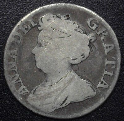 Great Britain 1711 Silver Shilling  Very Good