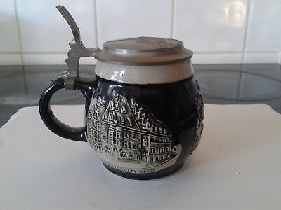 Traditional German Beer Stein Mug - with Makers Mark RM on Base