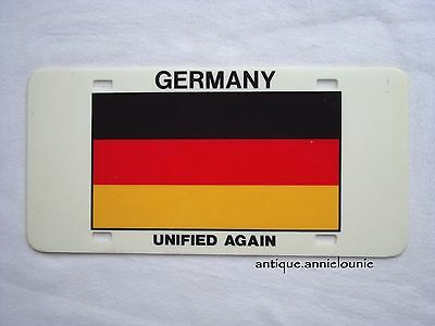 *GERMANY FLAG Vintage License Plate UNIFIED AGAIN