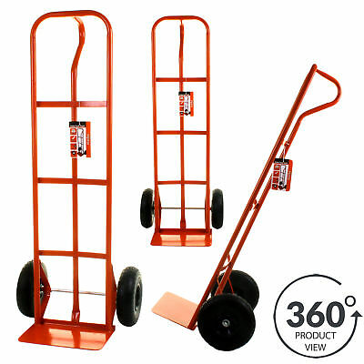 Hand Sack Truck 550LB Heavy Duty Industrial Trolley Puncture Proof Tyres Wheels