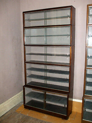 Minty Mahogany Bookcase 5 tier Stacking Sectional Art Deco Glazed Model Cabinet