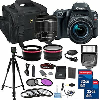 Canon EOS Rebel SL2 24.2 MP DSLR Camera with EF-S 18-55mm IS STM Lens + More