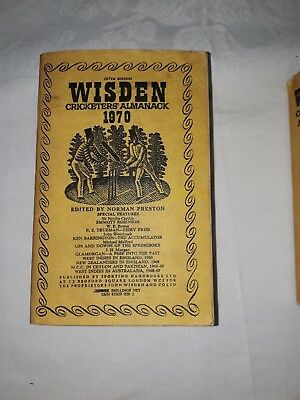 Wisdens Cricketers Almanack 1970 Softback