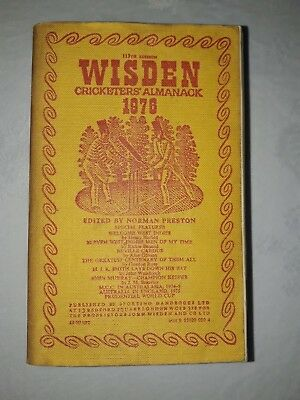 Wisdens Cricketers Almanack 1976 Softback