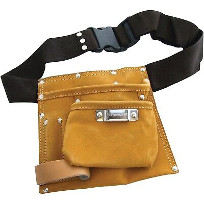 Tool Work Belt Multi 6 Pocket Leather Tool Belt Pocket Pouch Adjustable Uk Pro