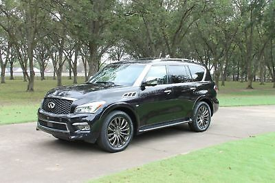 """2015 Infiniti QX80 Limited AWD MSRP $89945 One Owner Perfect Carfax New Tires Theater Pkg Tech Pkg 22"""" Wheels MSRP $89945"""