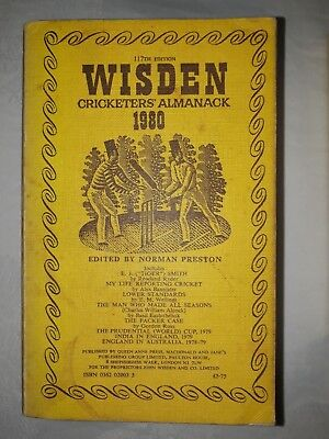 Wisdens Cricketers Almanack 1980 Softback